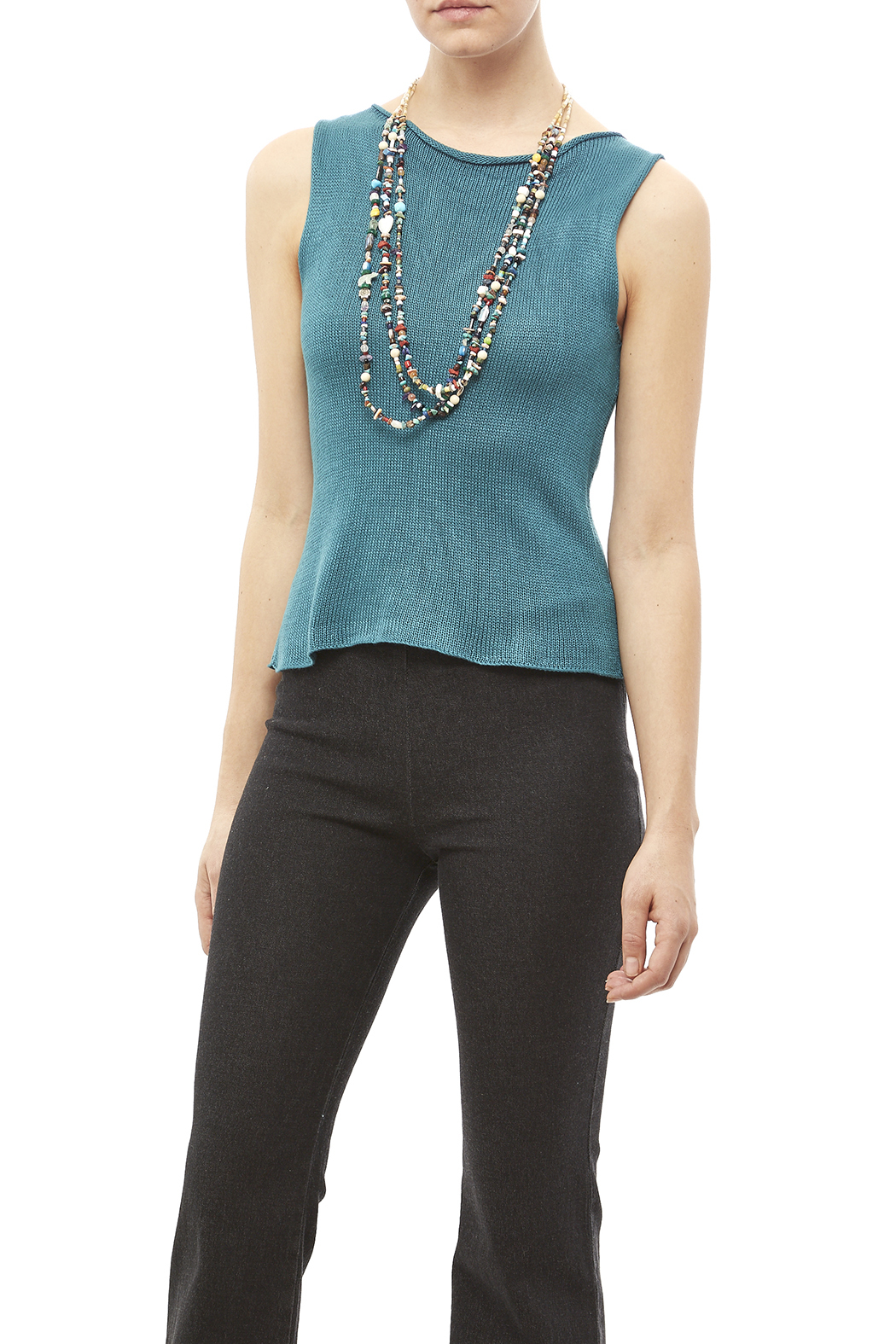 DC KNITS Sleeveless Bamboo Top - Front Cropped Image