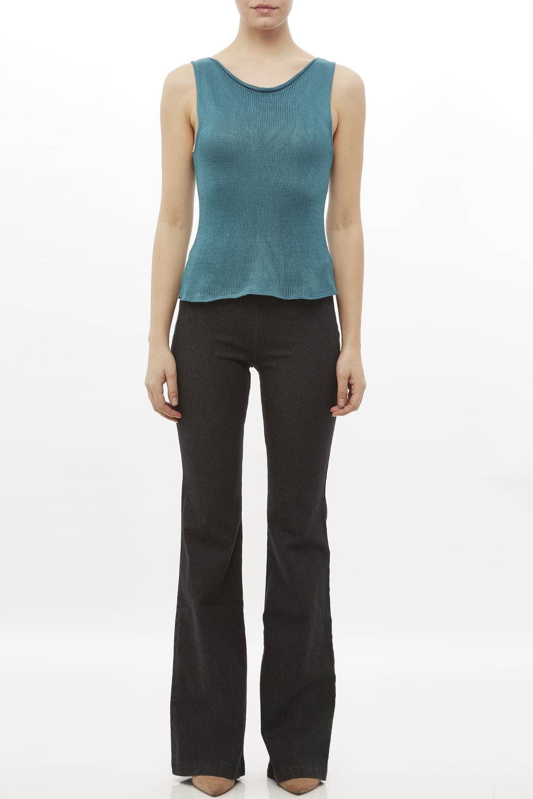 DC KNITS Sleeveless Bamboo Top - Front Full Image
