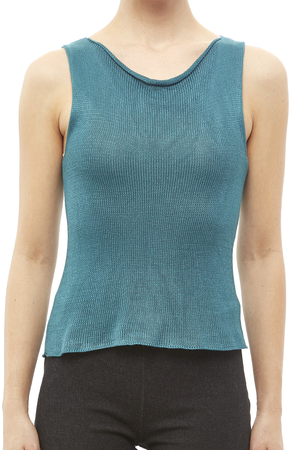 DC KNITS Sleeveless Bamboo Top - Side Cropped Image