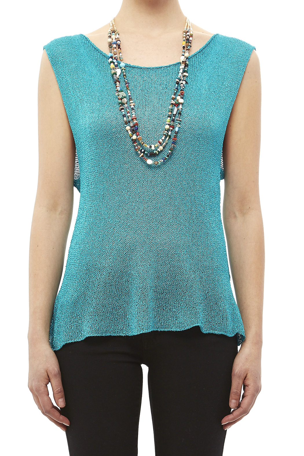 DC KNITS Sleeveless Rayon Top - Side Cropped Image