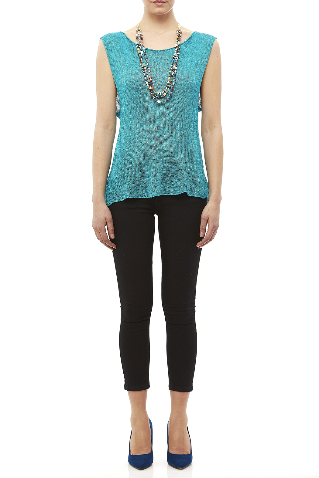 DC KNITS Sleeveless Rayon Top - Front Full Image