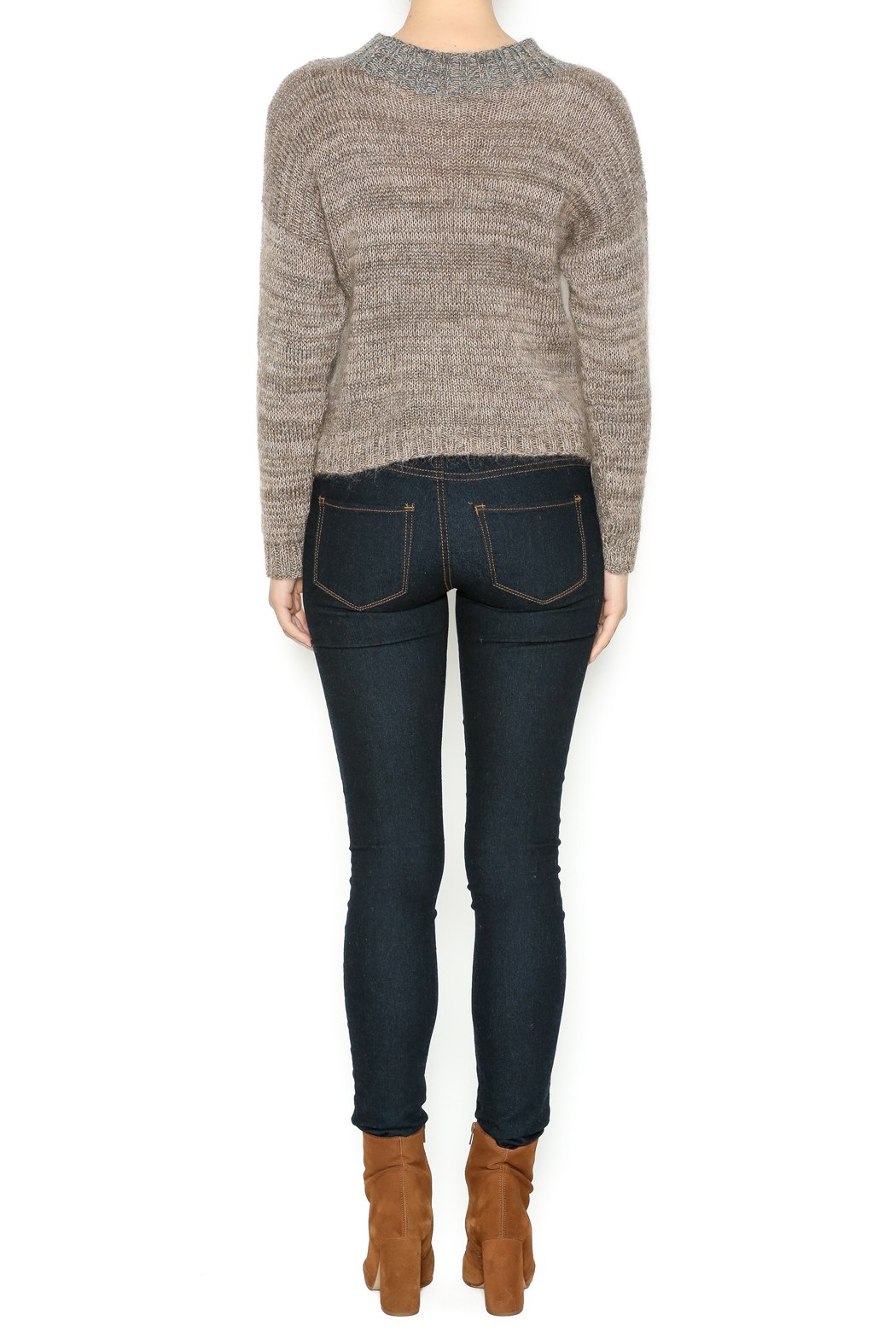 DC KNITS Tan Mohair Sweater - Side Cropped Image