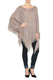 DC KNITS Fringe Bamboo Poncho - Front cropped