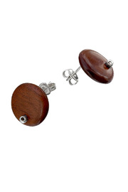 Estela Corona Wood Earrings - Front cropped