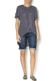Mesmerize Striped High Low Top - Front full body