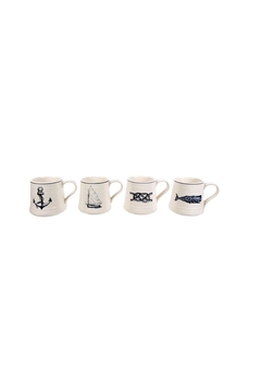 Shoptiques Product: Nautical Mug 4 Set