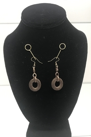 Customrags DD Brass Mesh Disc Earrings - Product Mini Image