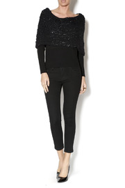 Talk of the Walk Textured Shimmer Sweater - Front full body