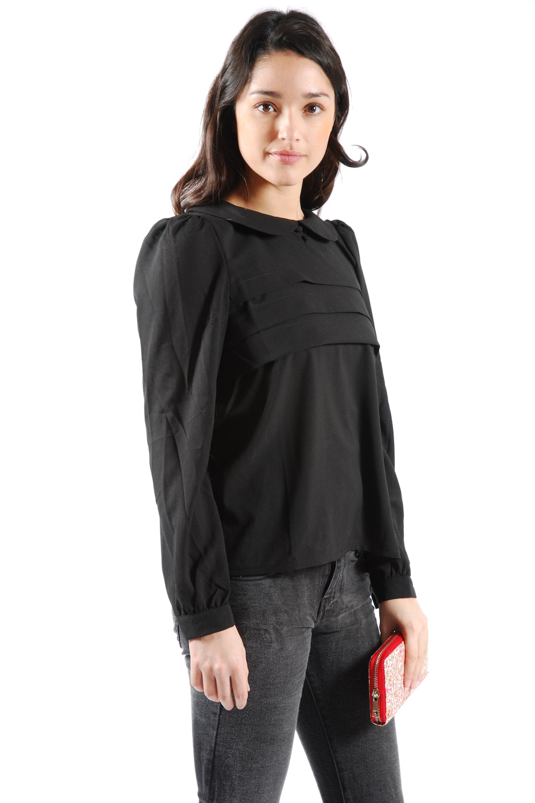 Suncoo Peter Pan Collar Blouse - Side Cropped Image