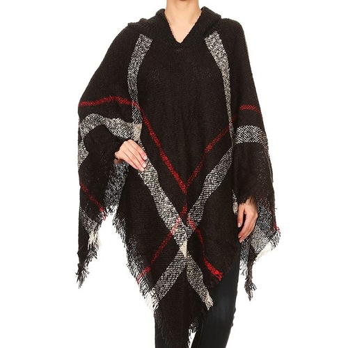 Unknown Factory Knit Poncho - Main Image