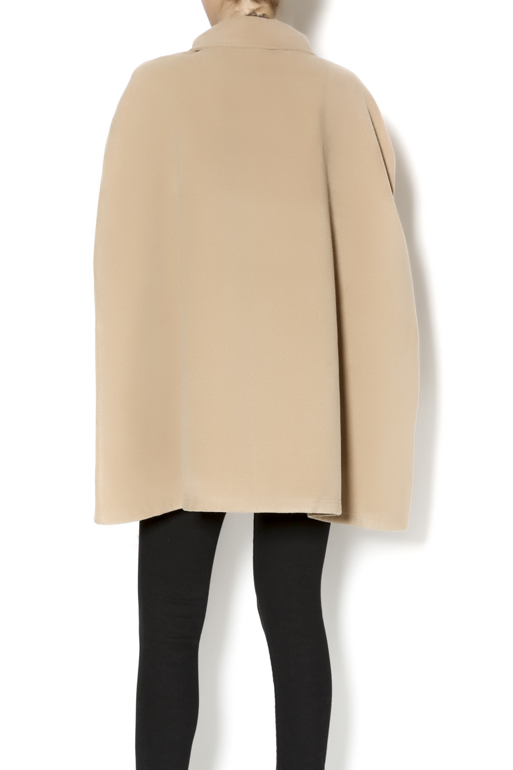 Charlie Paige Trench Coat Poncho - Back Cropped Image