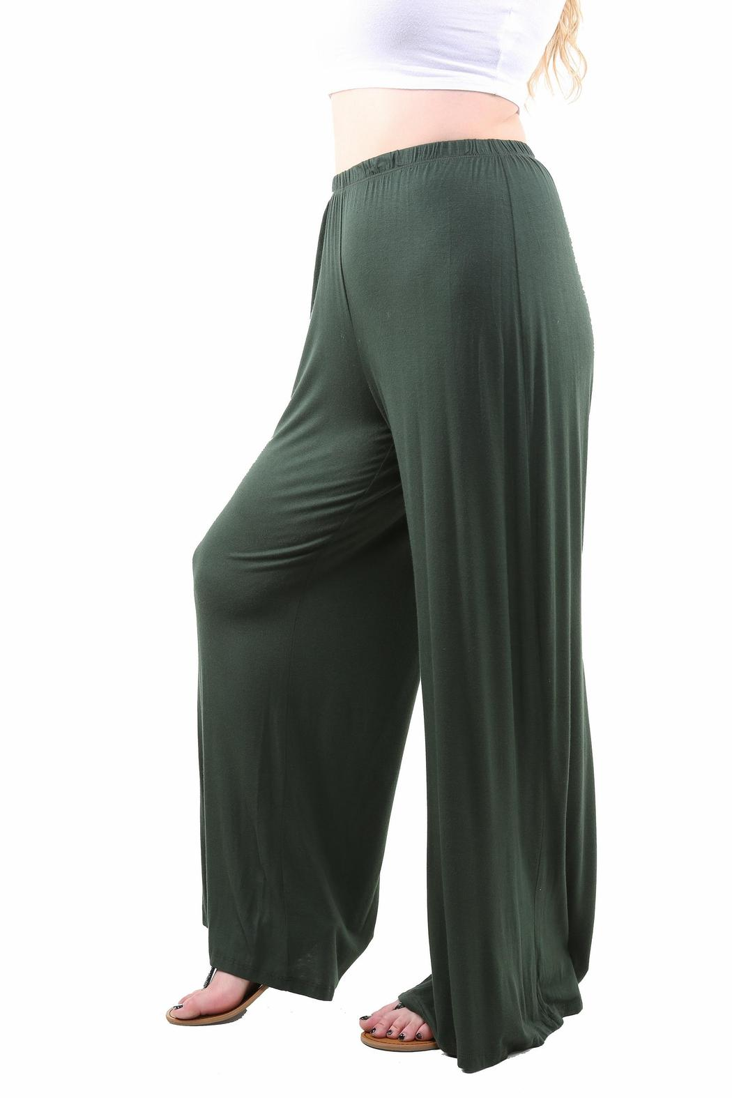 24 7 Comfort Apparel Plus Size Palazzo Pants From