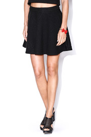 Lush Quilted Skater Skirt - Front cropped