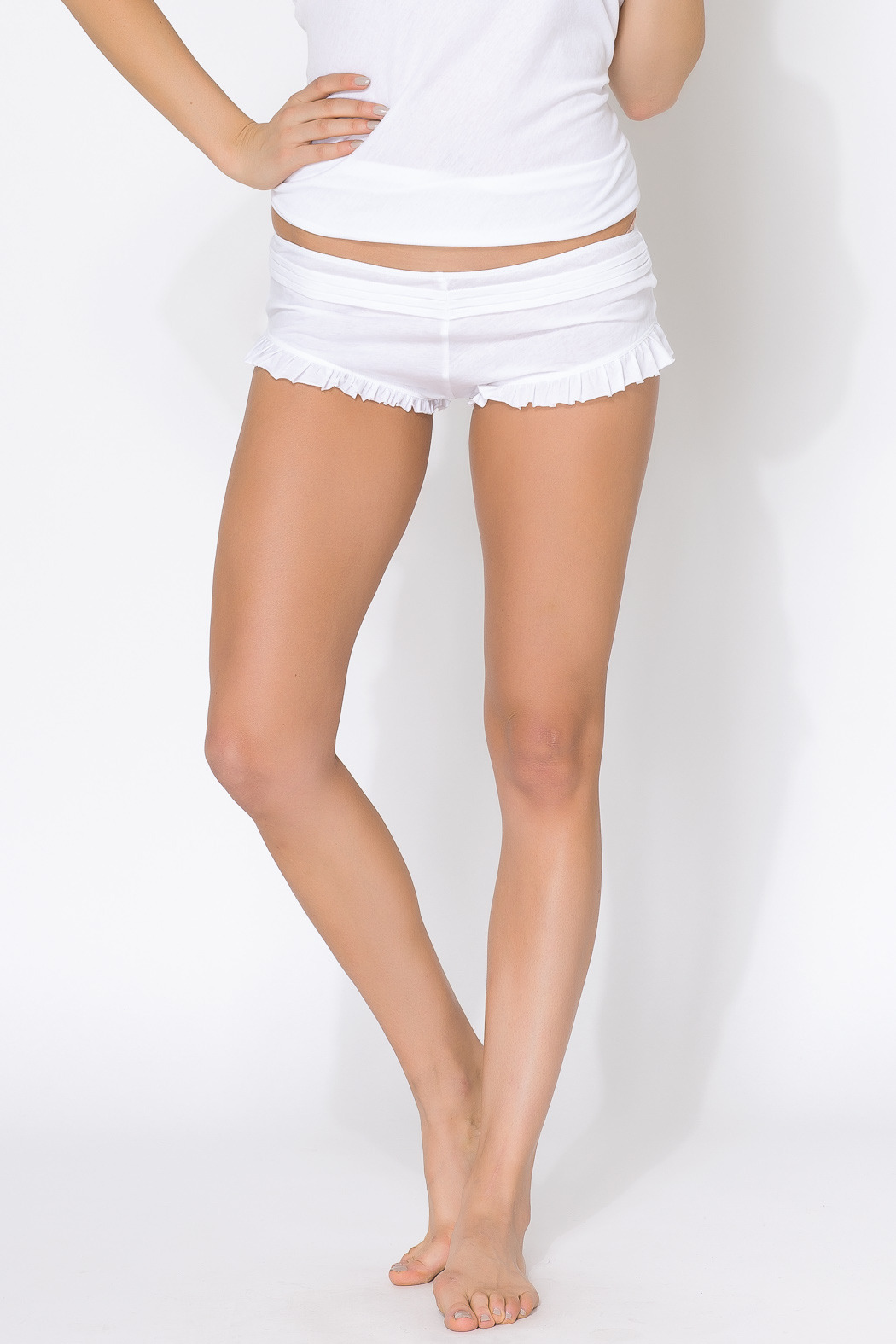 Skin Organic Cotton Pleated Shorty - Main Image