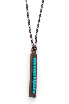 Rebel Designs Turquoise Bar Necklace - Product List Image