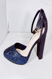 De Blossom Collection Navy Sparkle Heel - Product Mini Image