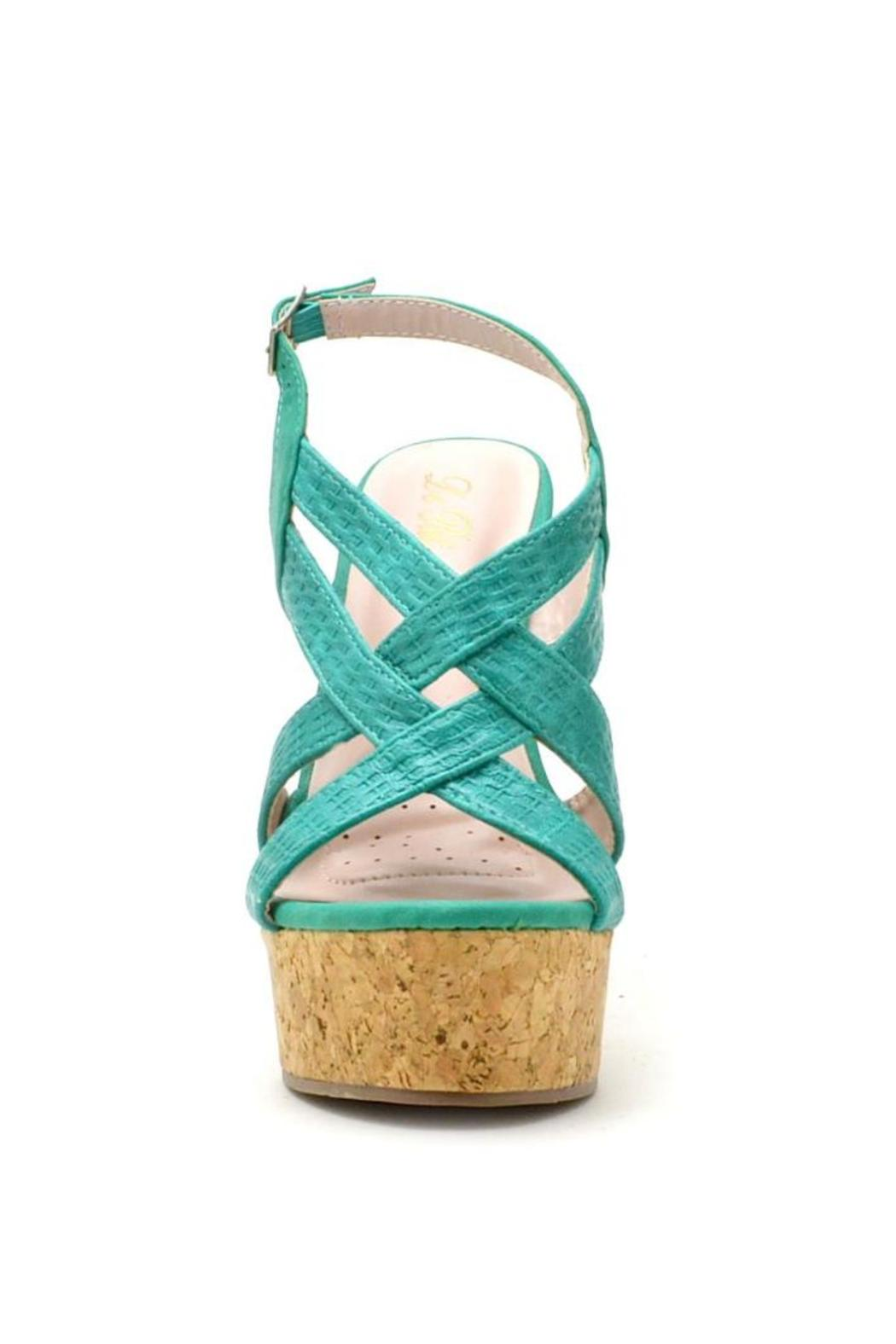De Blossom Collection Strappy Color Wedges - Side Cropped Image