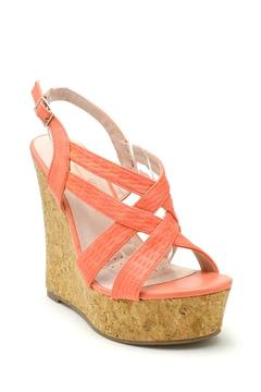 De Blossom Collection Strappy Color Wedges - Alternate List Image