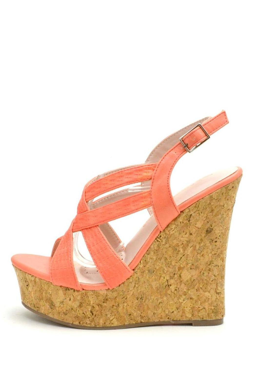 De Blossom Collection Strappy Color Wedges - Main Image