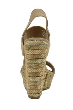 De Blossom Collection Stripped Burlap Wedge - Alternate List Image
