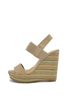 De Blossom Collection Stripped Burlap Wedge - Product List Image