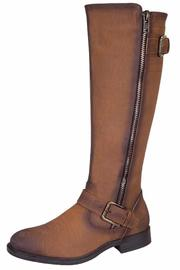 De Blossom Collection Tall Brown Boot - Product Mini Image