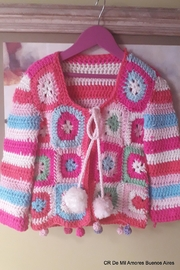 De Mil Amores Buenos Aires Crochet Cardigan - Front cropped