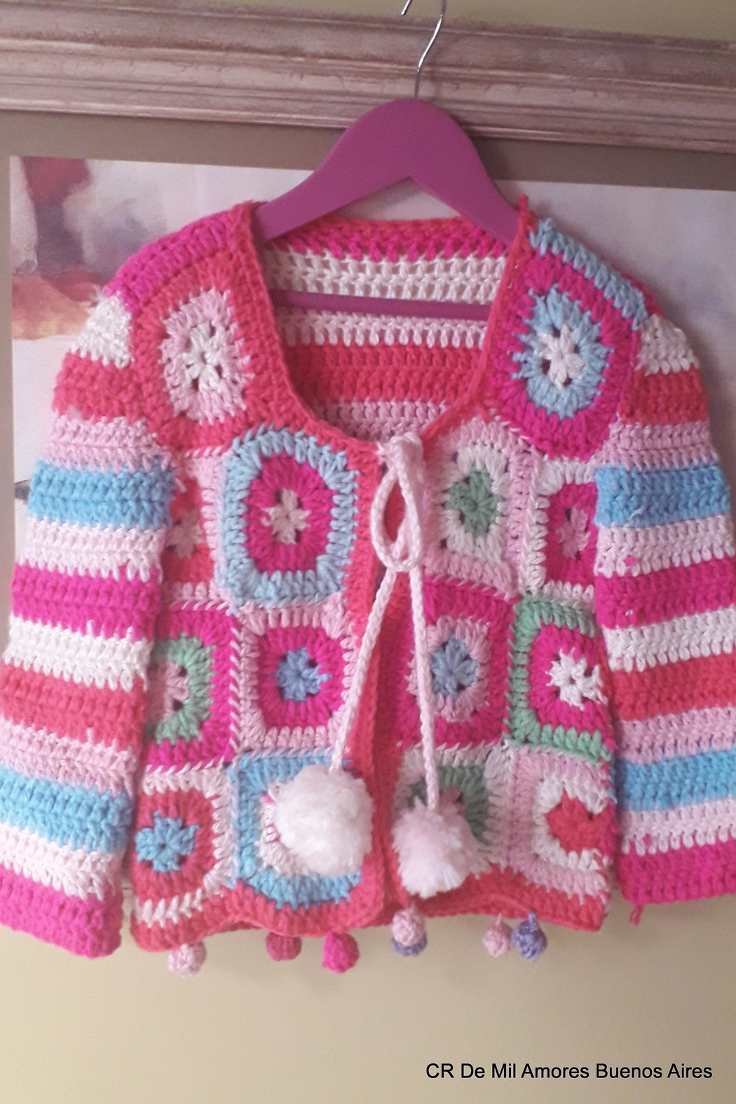 De Mil Amores Buenos Aires Crochet Cardigan - Front Full Image