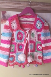 De Mil Amores Buenos Aires Crochet Cardigan - Front full body