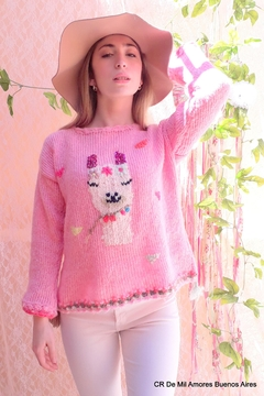 De Mil Amores Buenos Aires Llama Sequins Sweaters - Product List Image