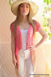 De Mil Amores Buenos Aires Crochet Cardigan Pink - Product Mini Image