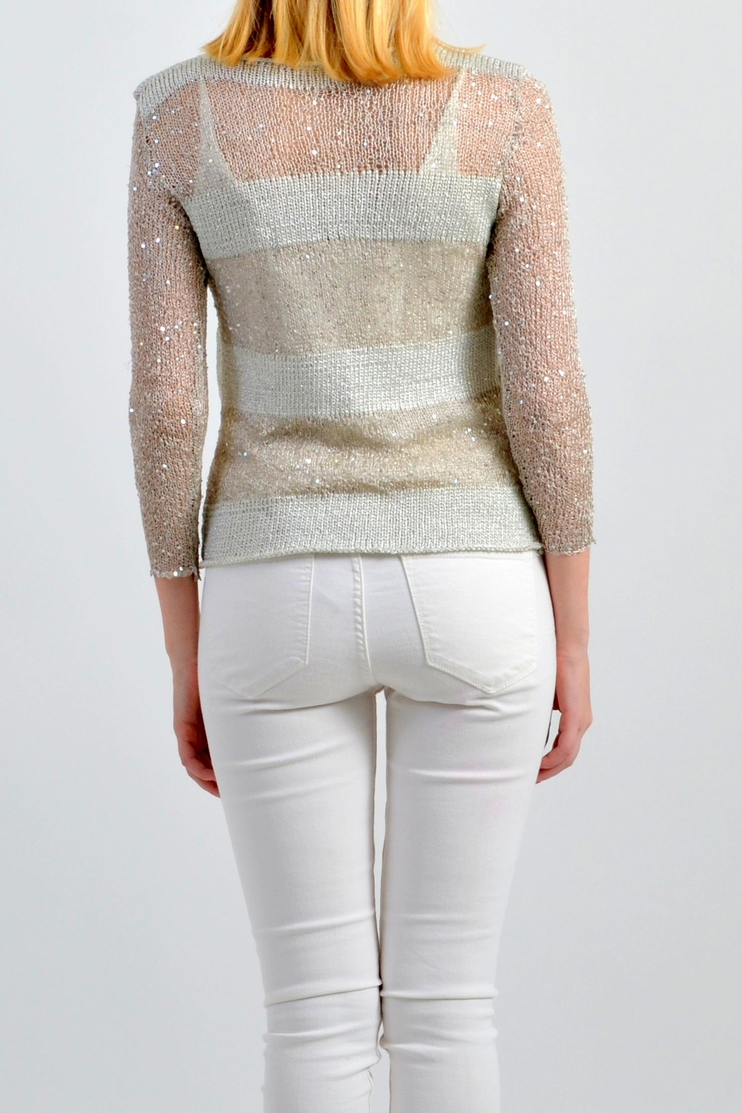 De Mil Amores Buenos Aires Capri Sweater - Side Cropped Image