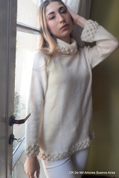 De Mil Amores Buenos Aires Sweater Cream - Product List Image
