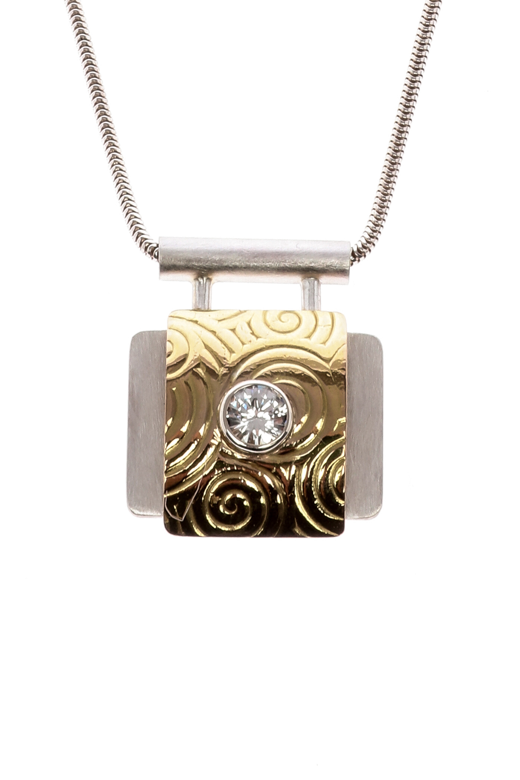dean designs silver gold pendant from oregon by