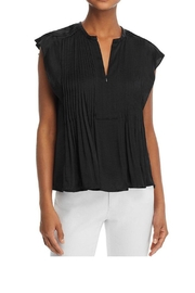 Rebecca Minkoff Deandra Pintuck Top - Front cropped