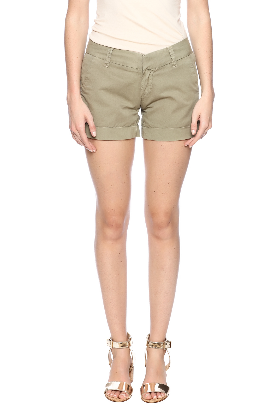 Dear John Denim Burly Wood Hampton Shorts - Side Cropped Image
