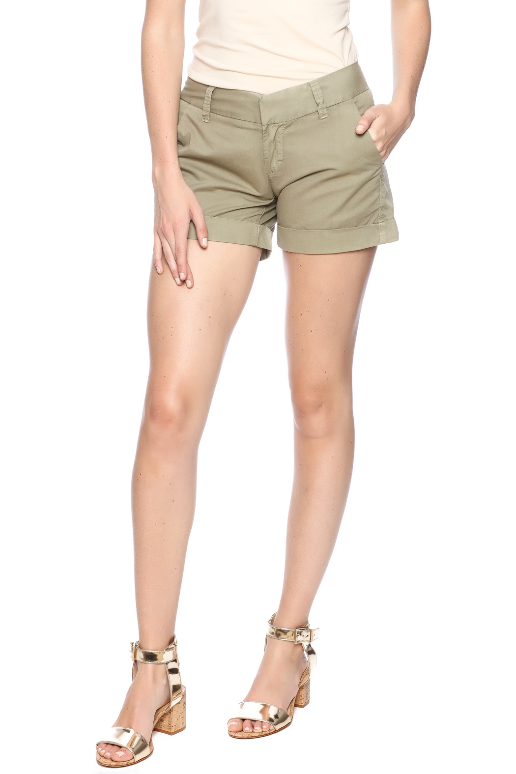 Dear John Denim Burly Wood Hampton Shorts - Main Image