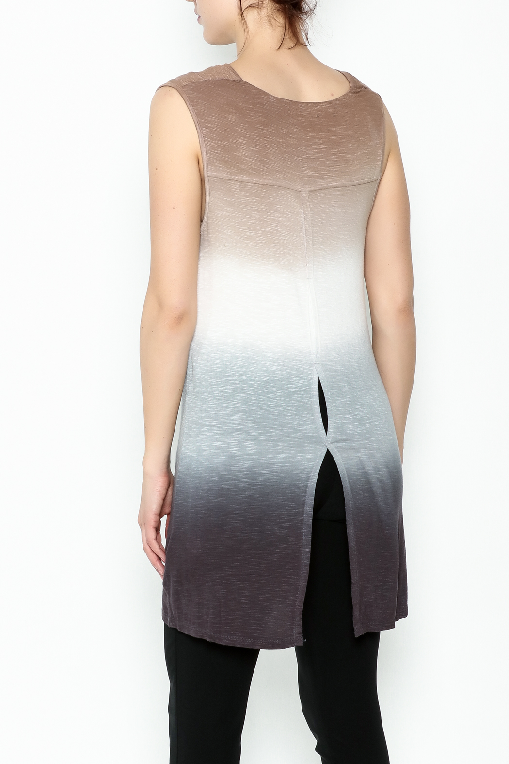 Dear John Dip Dyed Tunic - Back Cropped Image