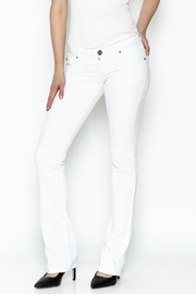 Dear John Runaway White Jeans - Product Mini Image