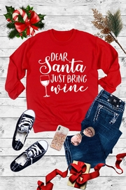 Caramelo Trend Dear Santa Just Bring Wine - Front cropped