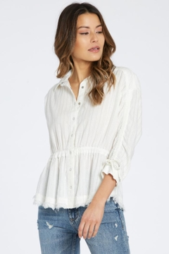 Dear John Button-Down Drawstring Blouse - Product List Image