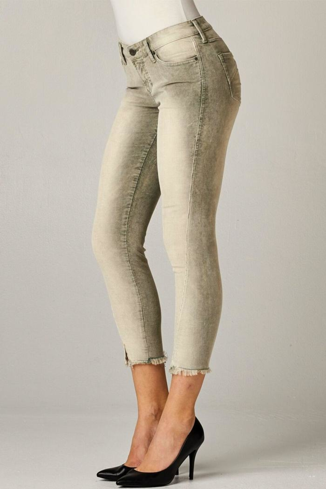 Dear John Distressed Corduroy Crop-Pant - Side Cropped Image
