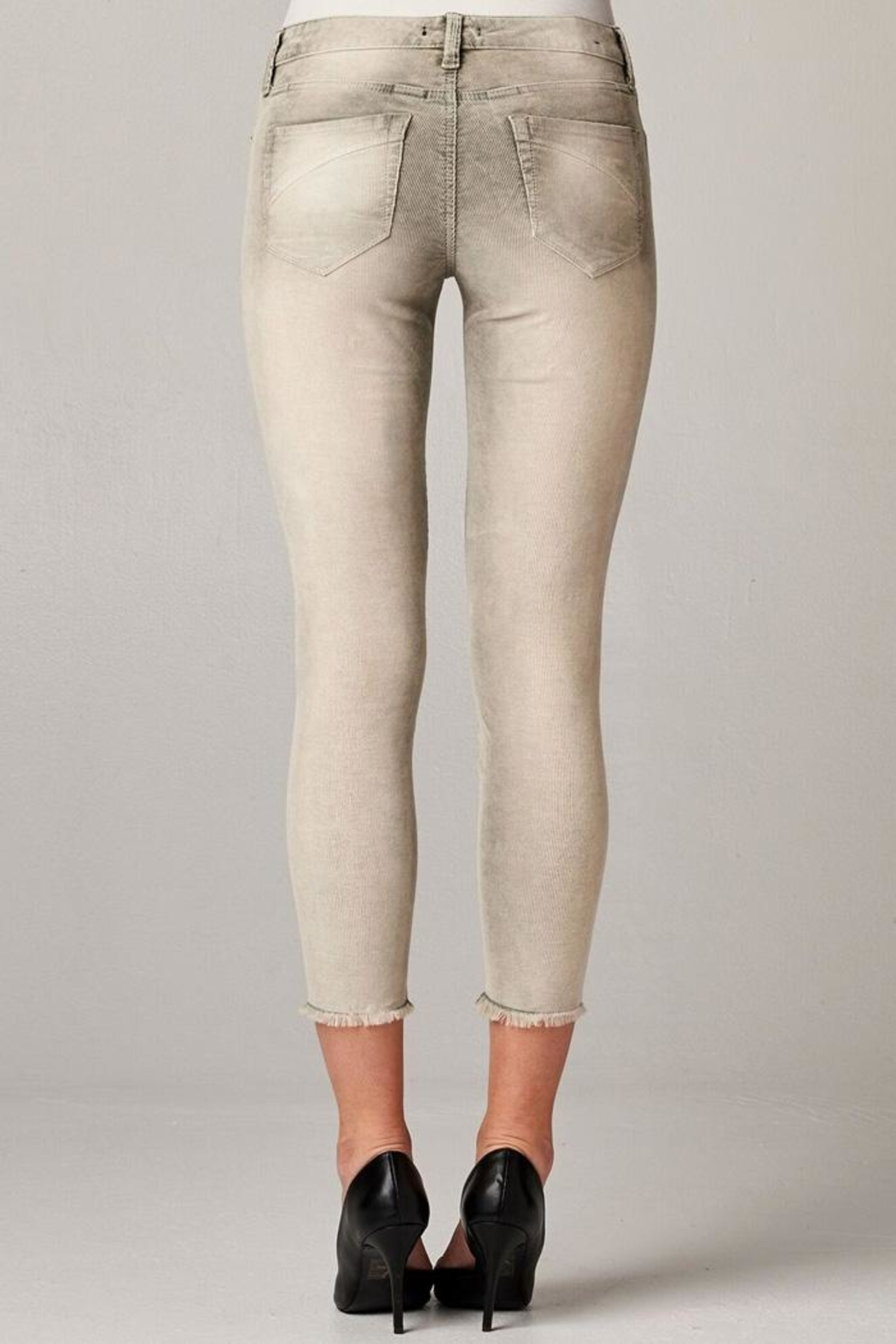 Dear John Distressed Corduroy Crop-Pant - Front Full Image