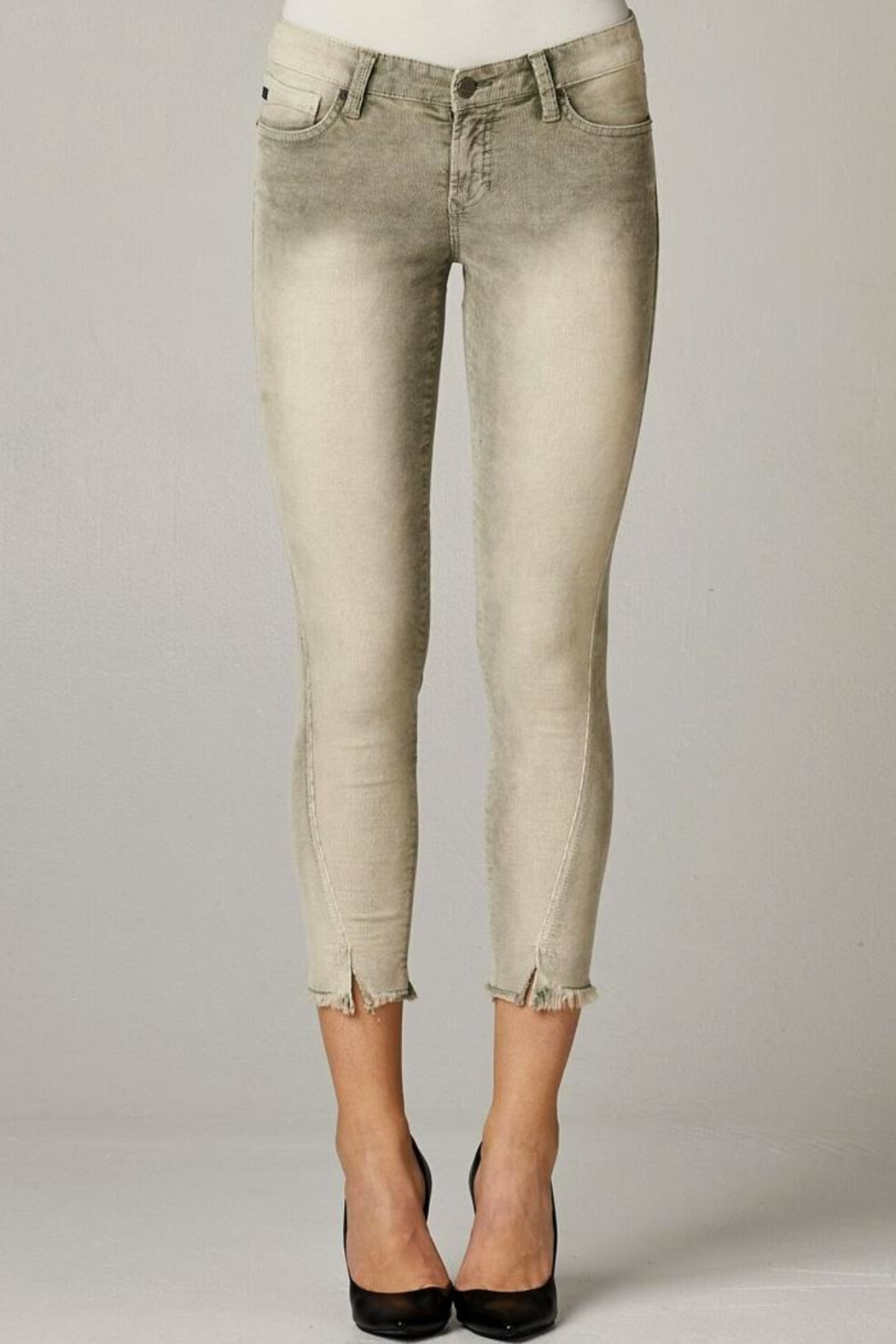 Dear John Distressed Corduroy Crop-Pant - Main Image