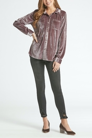 Dear John Leena Velvet Buttondown - Front cropped