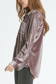 Dear John Leena Velvet Buttondown - Front full body