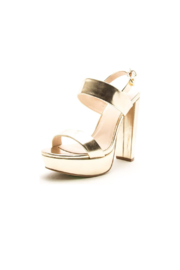 Qupid Dearly-08 Platform Sandal - Front cropped