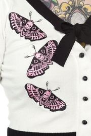 Sourpuss Death-Moth Cropped Cardigan - Side cropped