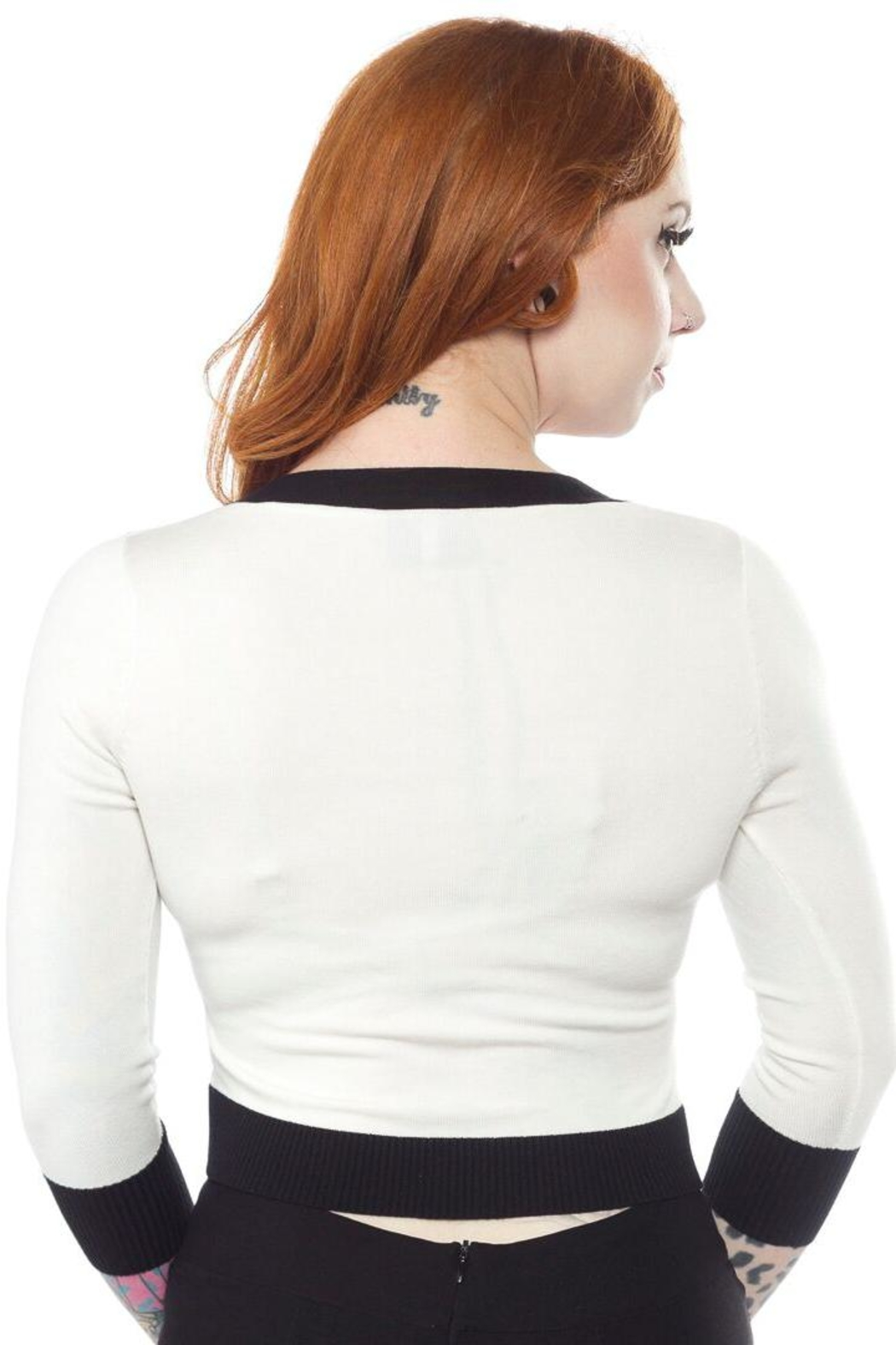 Sourpuss Death-Moth Cropped Cardigan - Front Full Image
