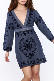 Debbie Katz Blue Embroidered Dress - Front cropped